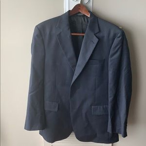 Jos. A. Bank. Navy blue/grey suit (jacket & pants)